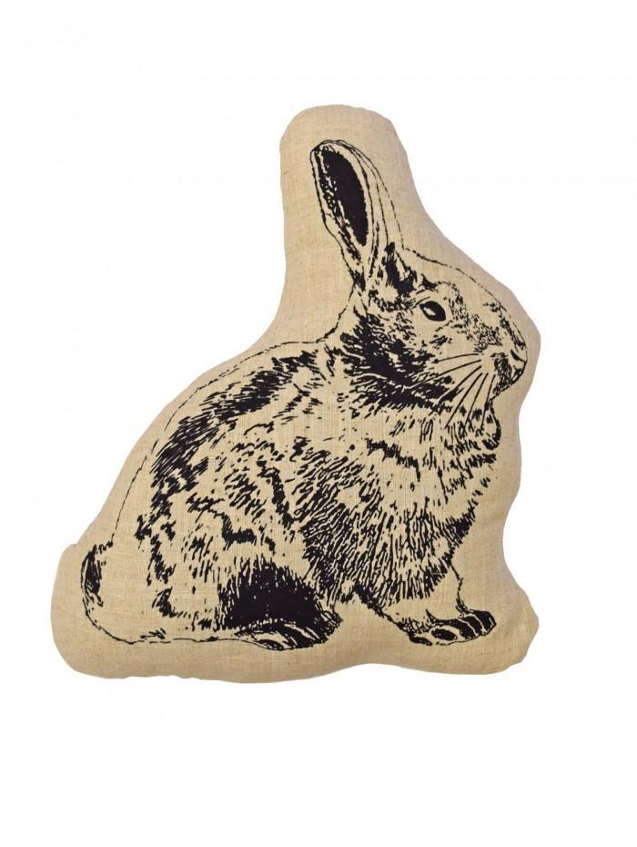 Rabbit Shaped Cushion  Natural