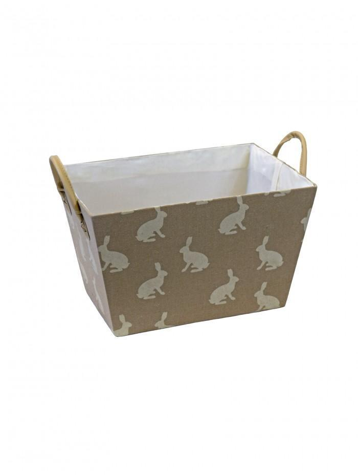Life From Coloroll Rabbits Fabric Weave Basket, Cream