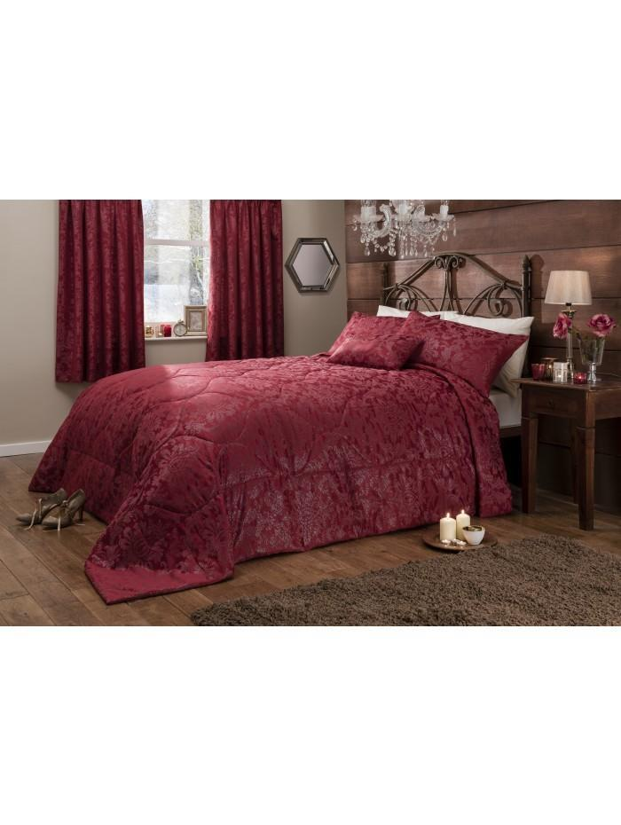 Regal Rouge Jacquard Bedspread Red