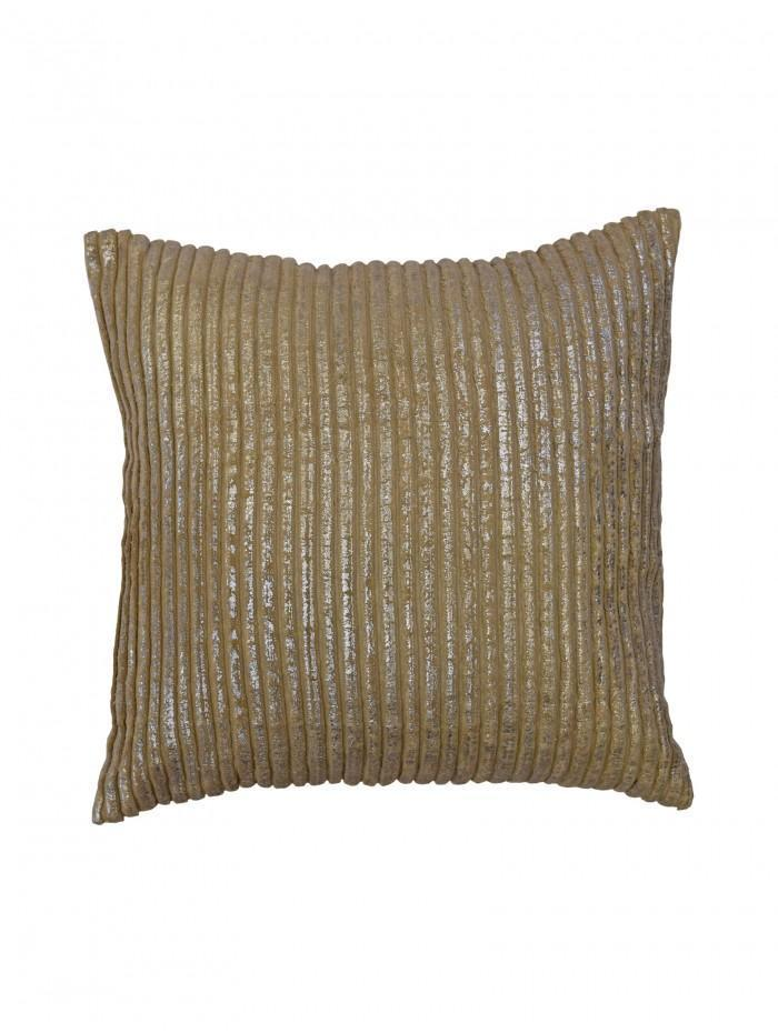 Ribbed Foil Print Cushion
