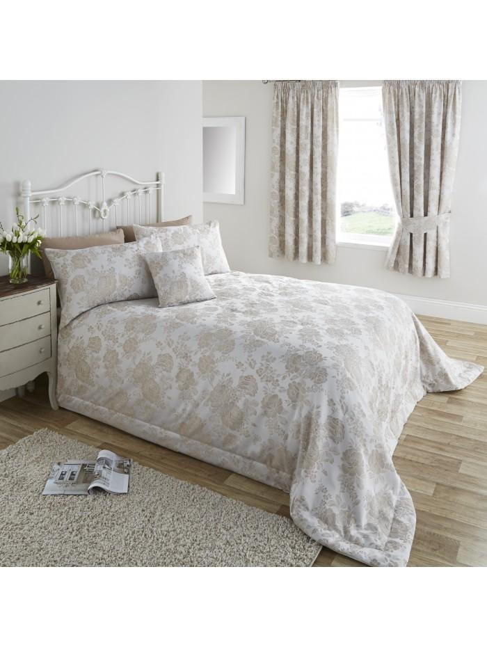 Rosetta Floral Bedspread Natural
