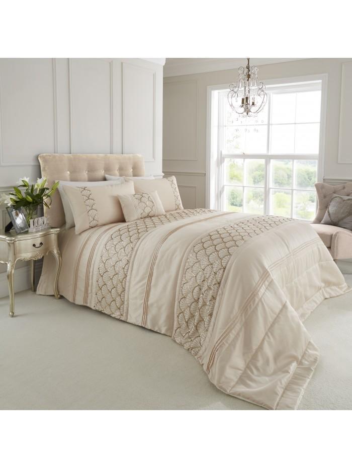 Sequin Fan Bedspread Cream