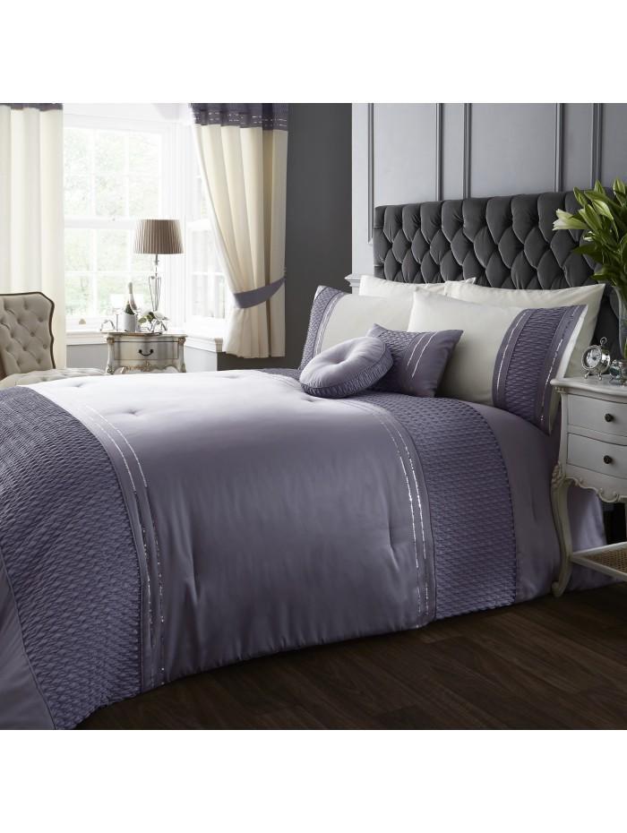 Serena Sequin Trim Bedspread Heather