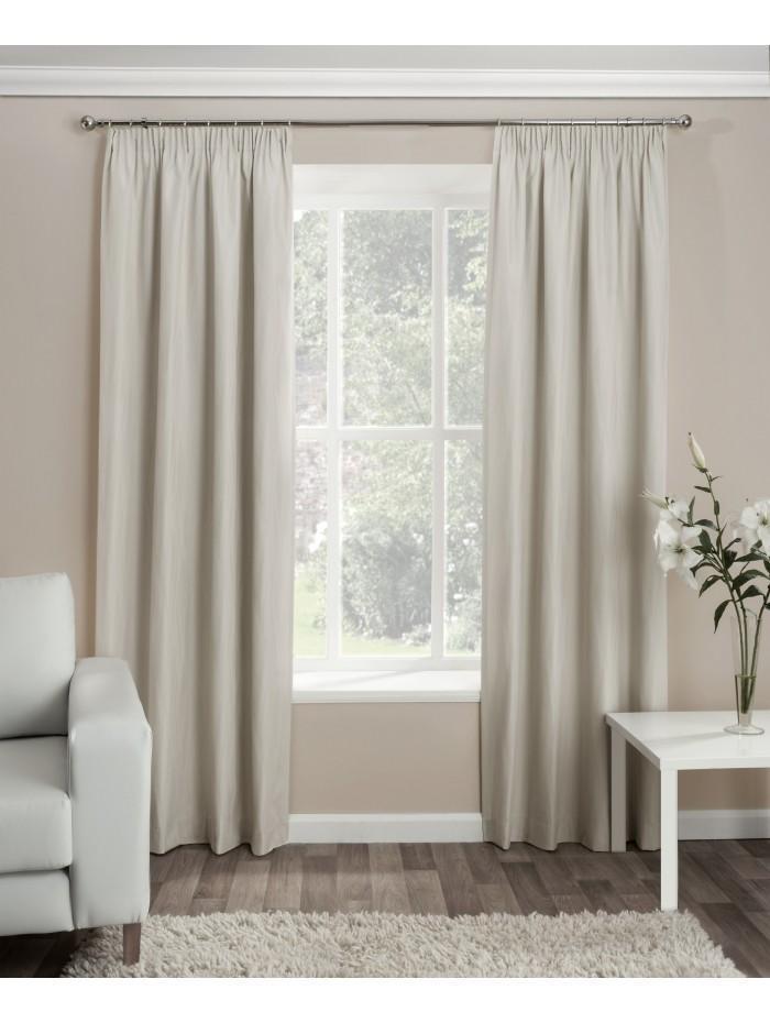 Serene Thermal Pencil Pleat Curtains Cream