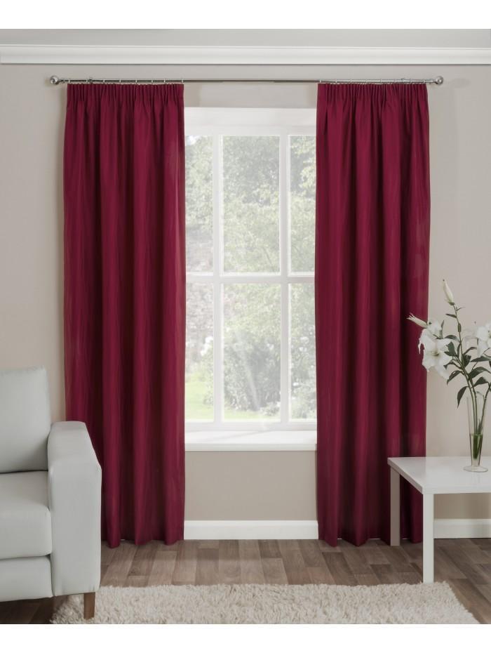 Serene Thermal Pencil Pleat Curtains Wine