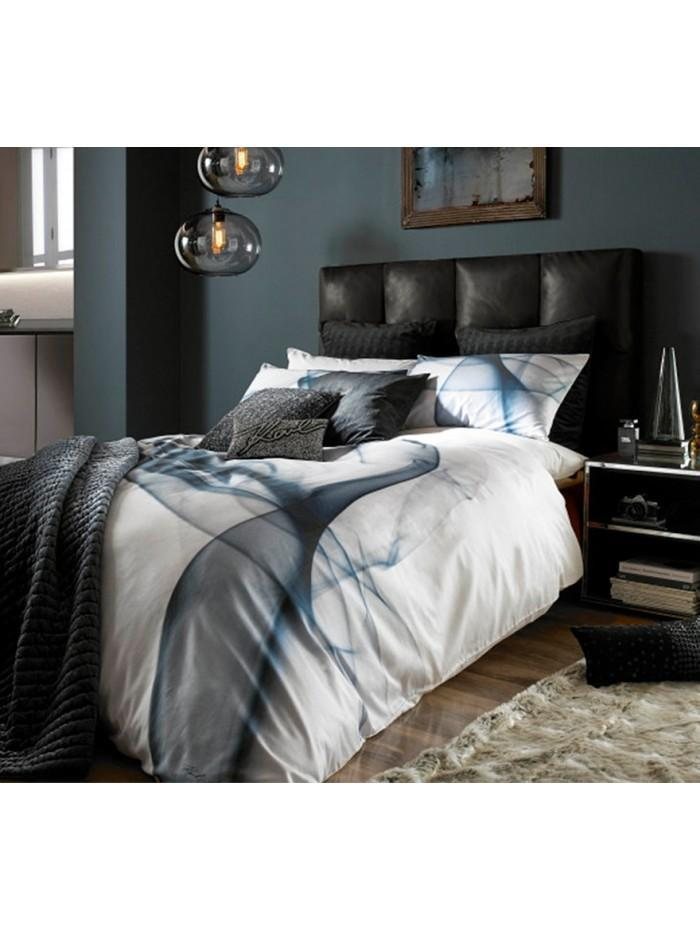 Karl Lagerfeld Smoke Bedding Collection Petrol Ponden Home
