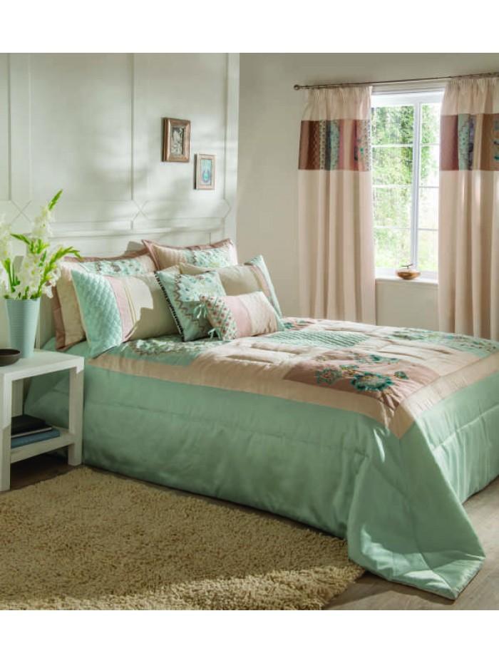 Sorilla Patchwork Bedspread Duckegg