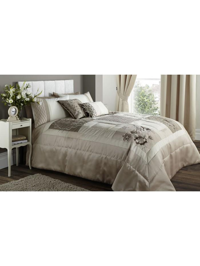 Sorilla Patchwork Bedspread Natural