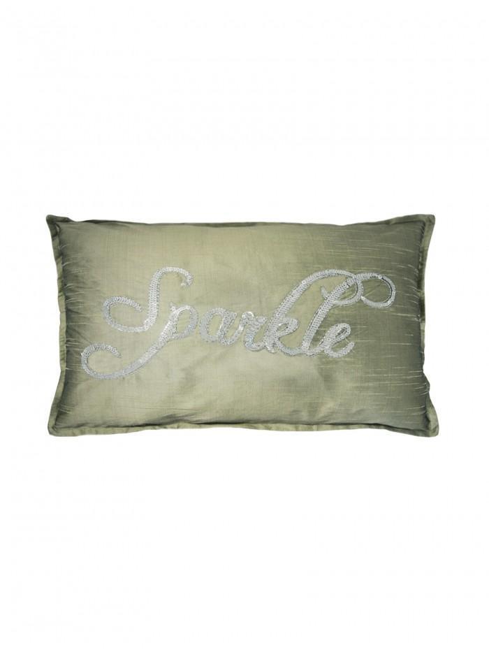 Sparkle Sequin Cushion Grey