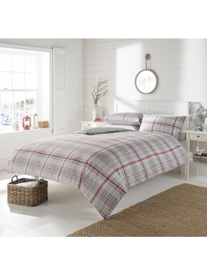 Starboard Check Duvet Set Grey