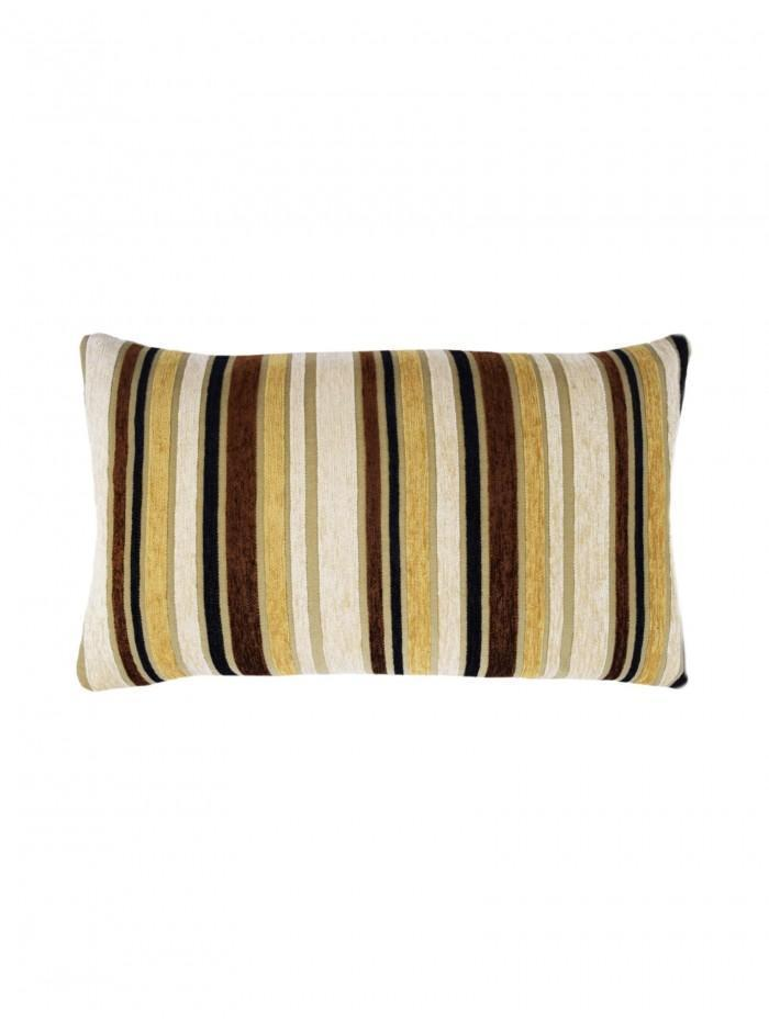 Stripe Chenille Cushion Natural