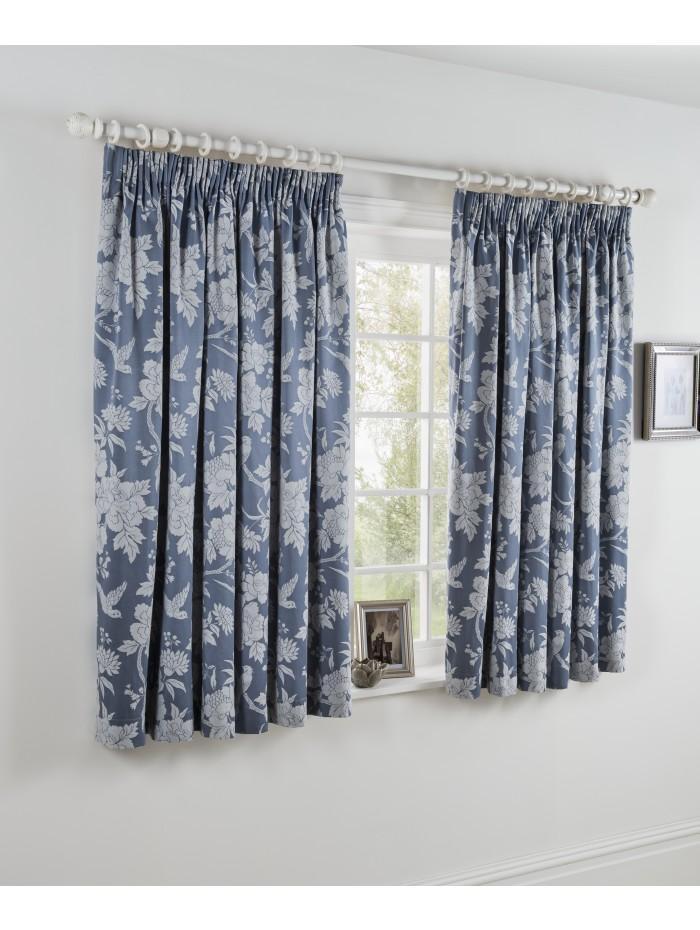 Swift Jacquard Curtain Blue