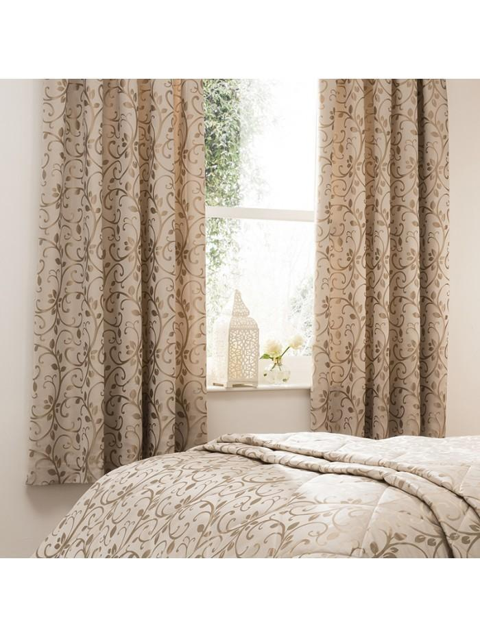 Swirl Jacquard Curtain Natural