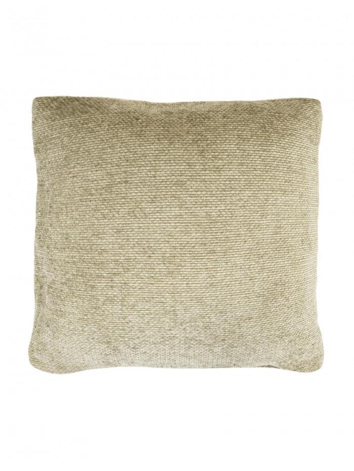 Plain Chenille Cushion Taupe