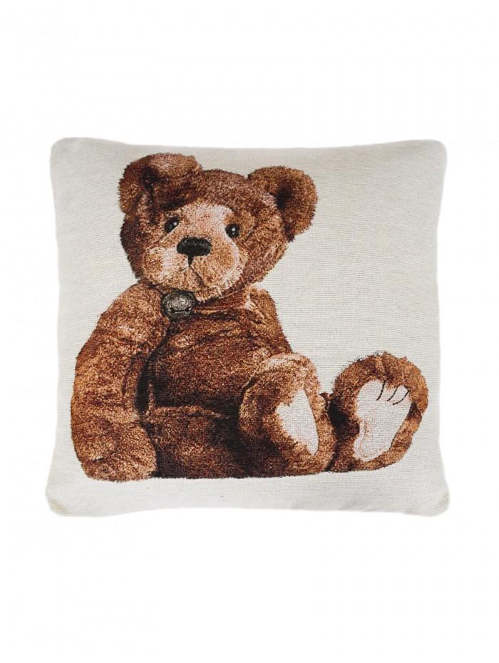 Teddy Bear Cushion Natural
