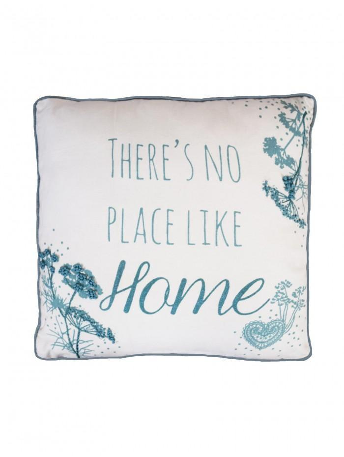 There's No Place Like Home Cushion Duck Egg
