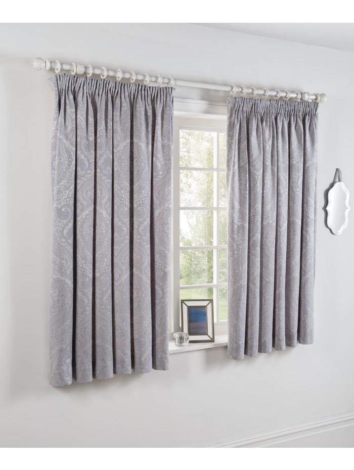Victorian Charm Jacquard Curtain White