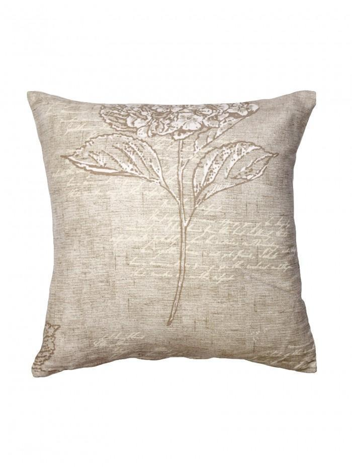 Vintage Hydrangea Cushion Natural