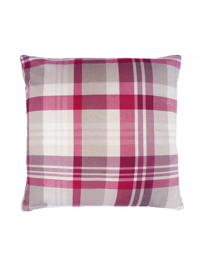 Whitley Check Cushion Plum
