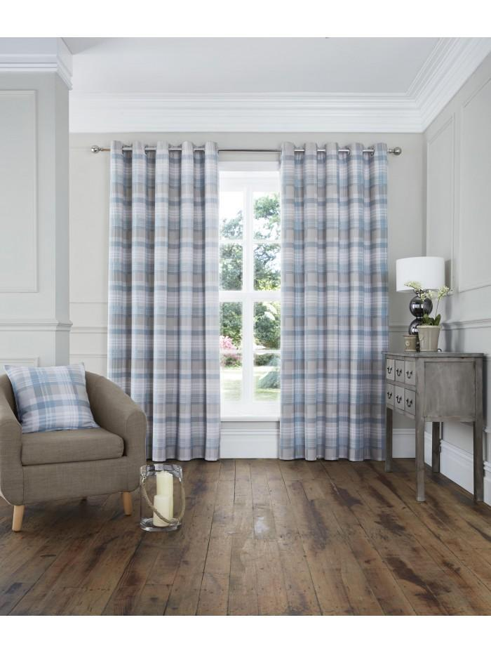 Whitley Eyelet Curtains Duck Egg