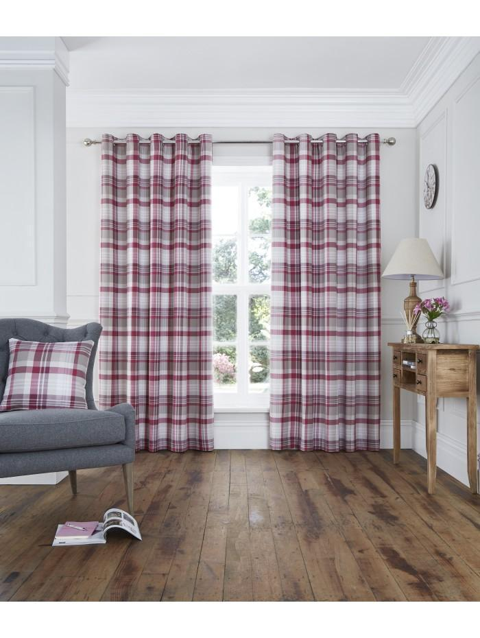 Whitley Eyelet Curtains Plum
