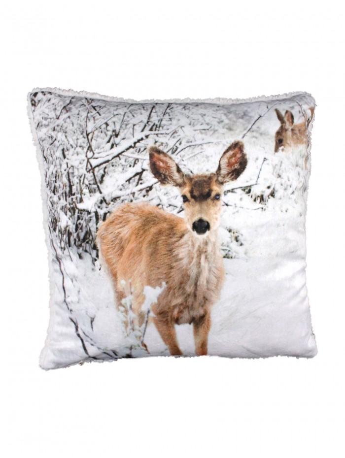 Deer  Cushion Grey