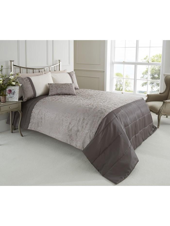 Woodland Jacquard Bedspread Taupe