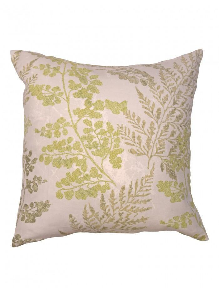 Woodland Leaf Cushion Green