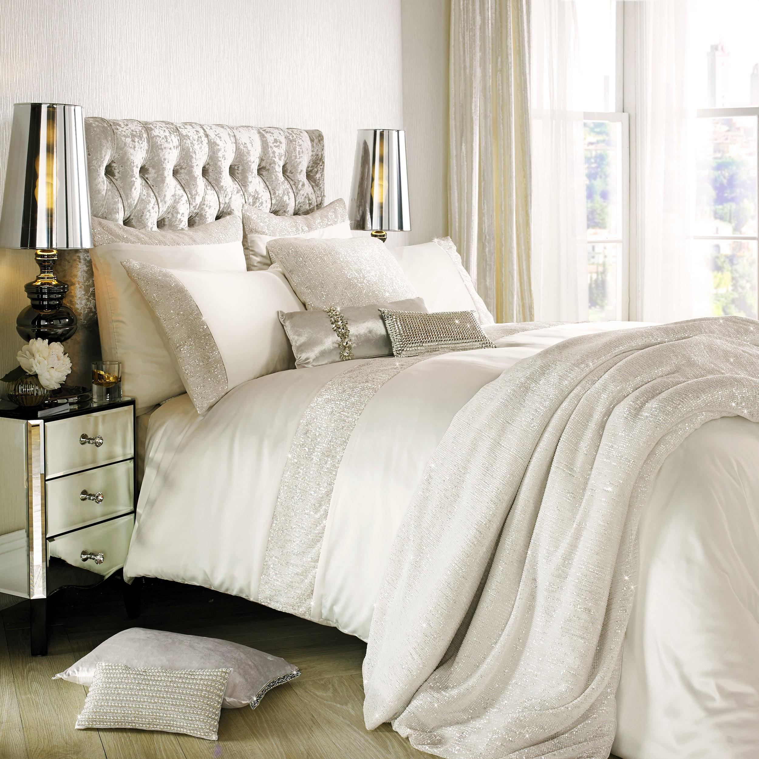 Kylie Minogue Astor Bedding Collection Oyster Ponden Home