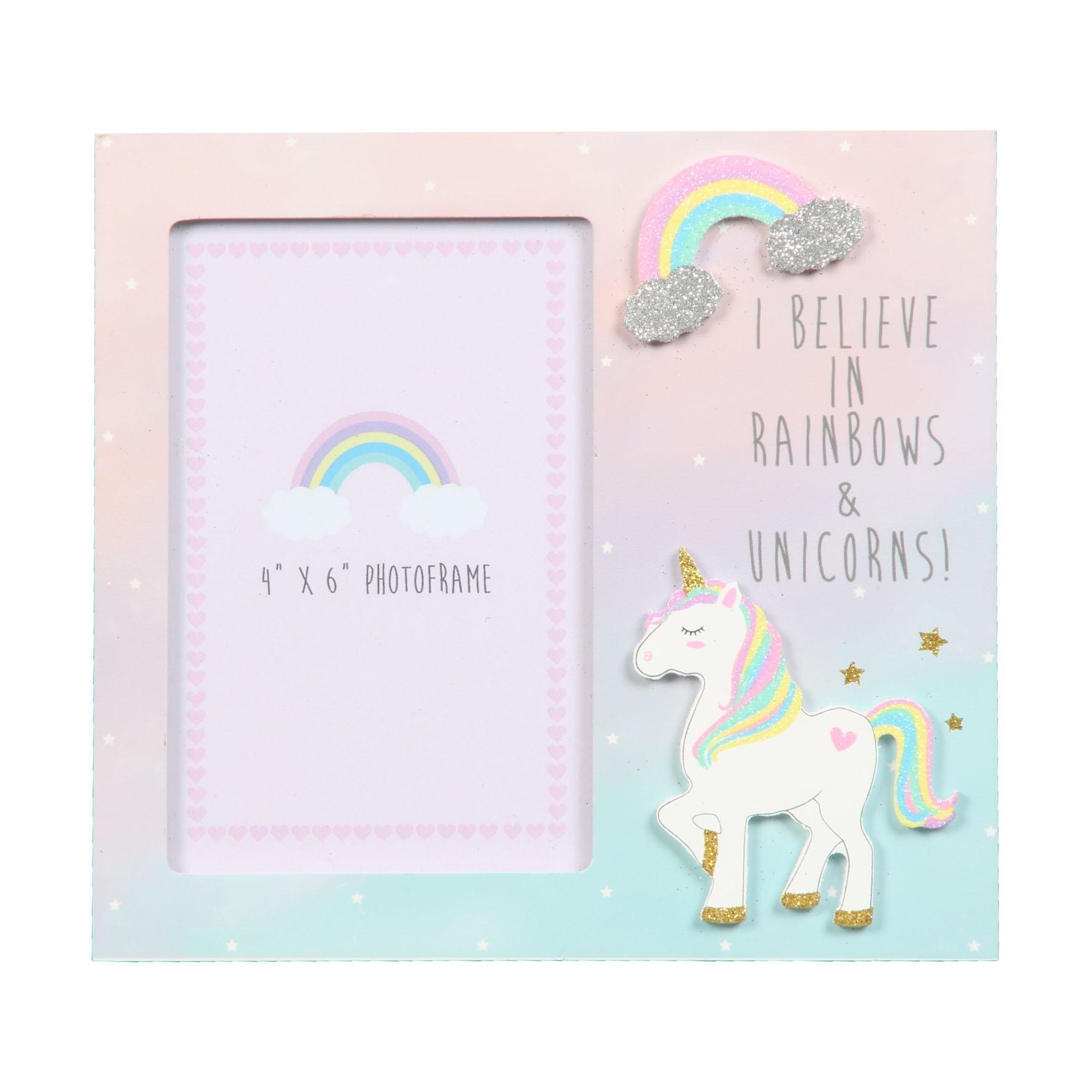 Unicorn Magic Photo Frame I Believe in Rainbows... 4\