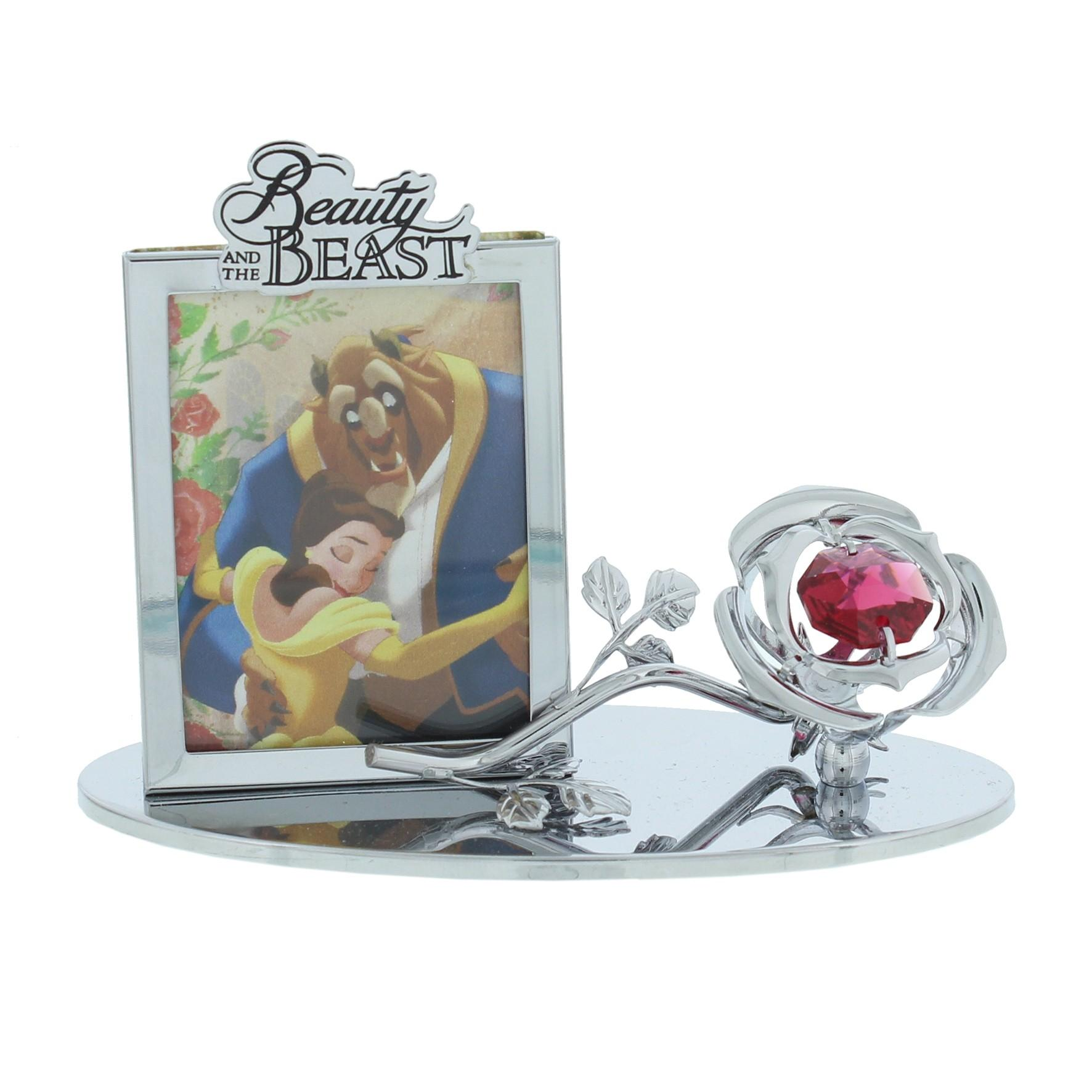 Disney Chrome Plated Photo Frame Beauty And The Beast Ponden Home