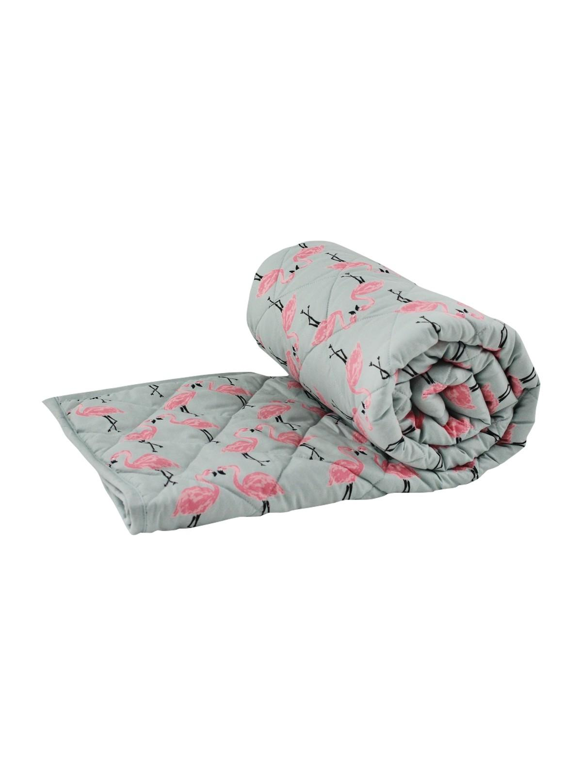 Quilted Flamingo Throw Pink Ponden Home