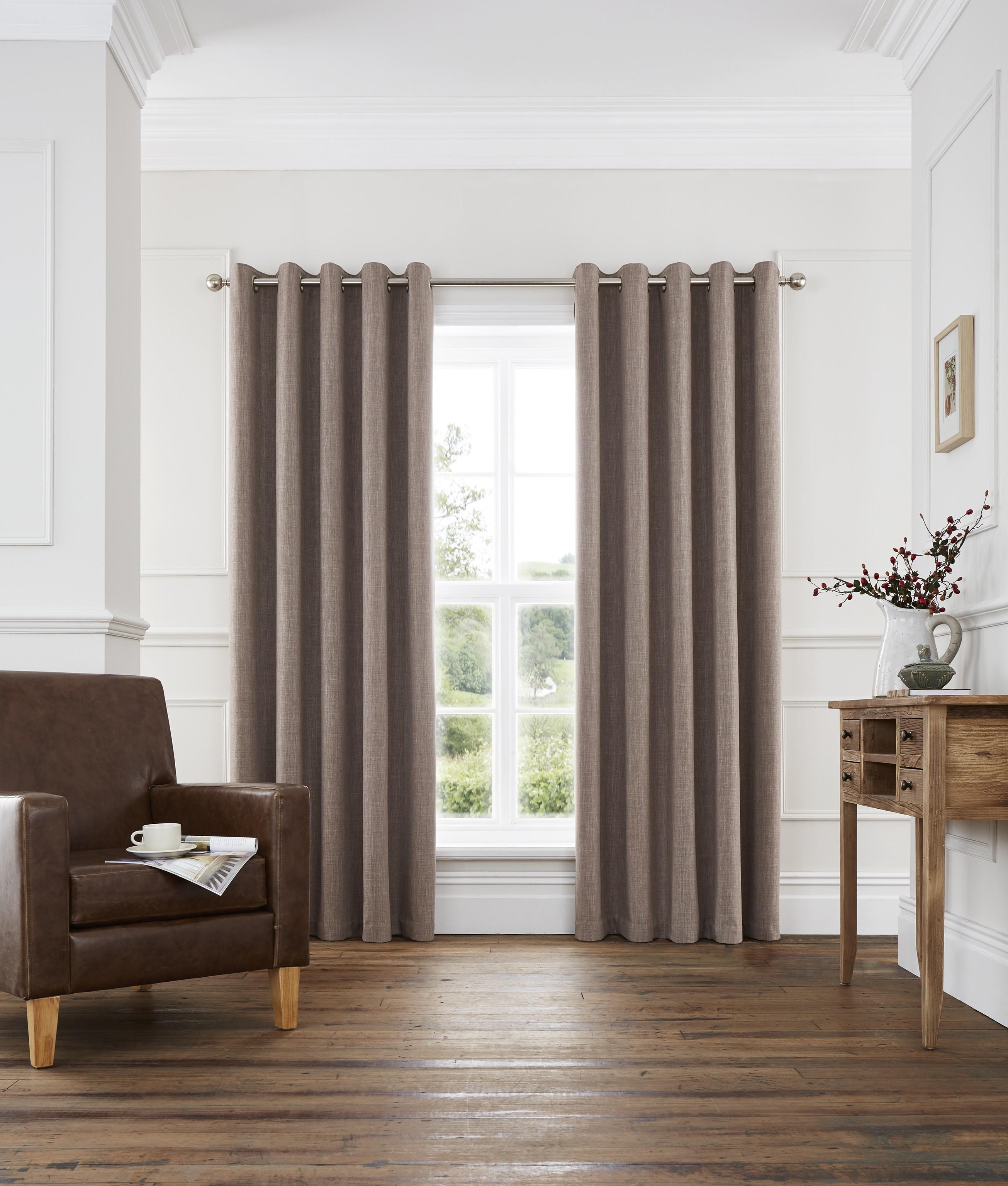 harlow blackout eyelet curtains coffee ponden home. Black Bedroom Furniture Sets. Home Design Ideas