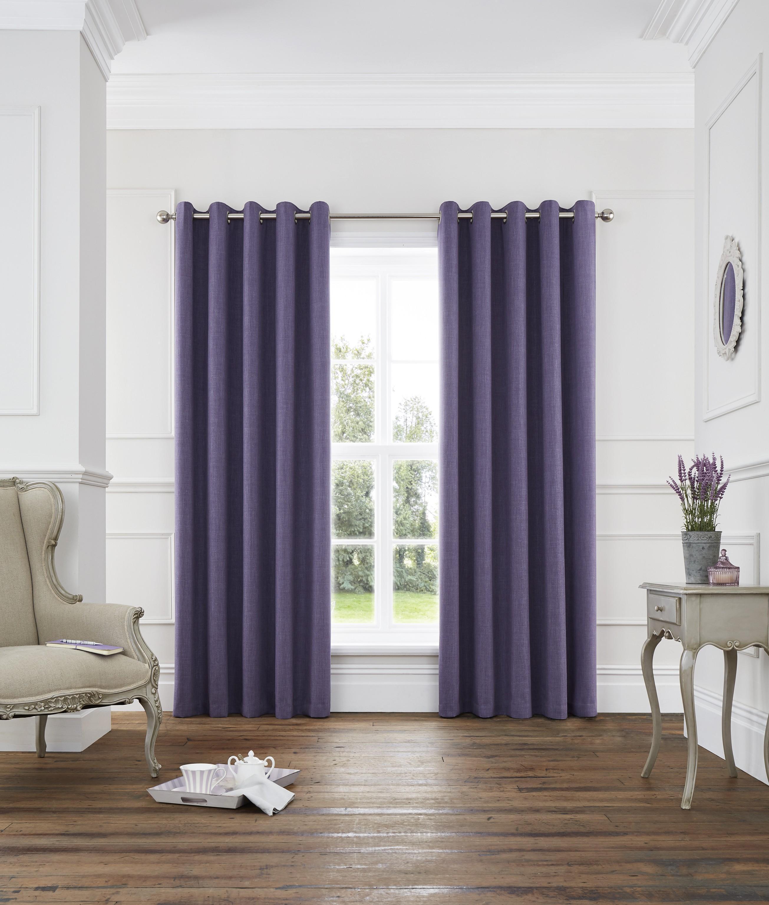 harlow thermal blackout eyelet curtains heather ponden home. Black Bedroom Furniture Sets. Home Design Ideas