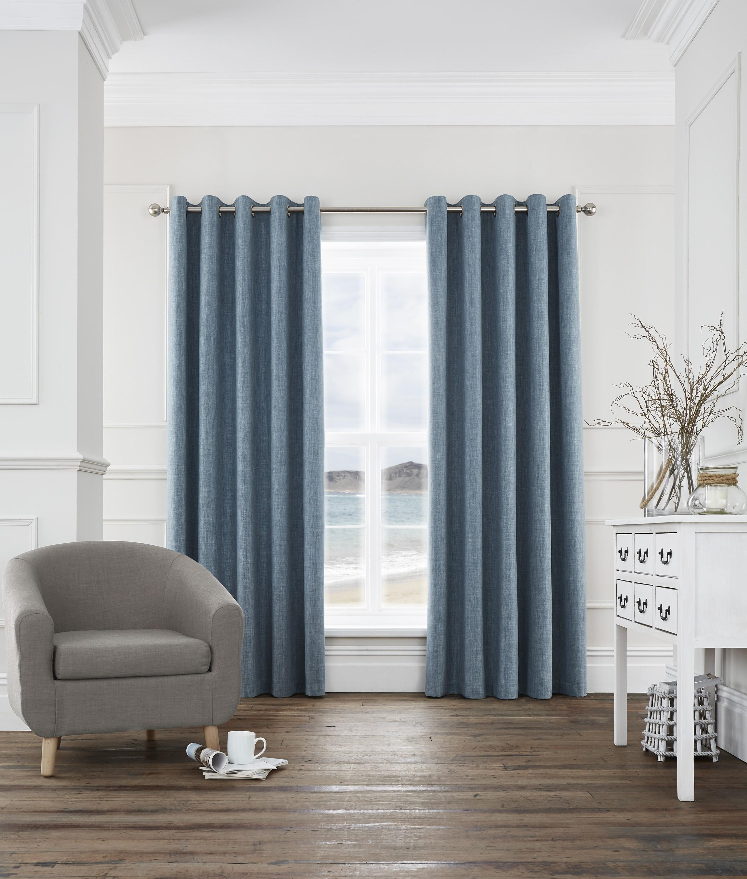harlow blackout eyelet curtains teal ponden homes