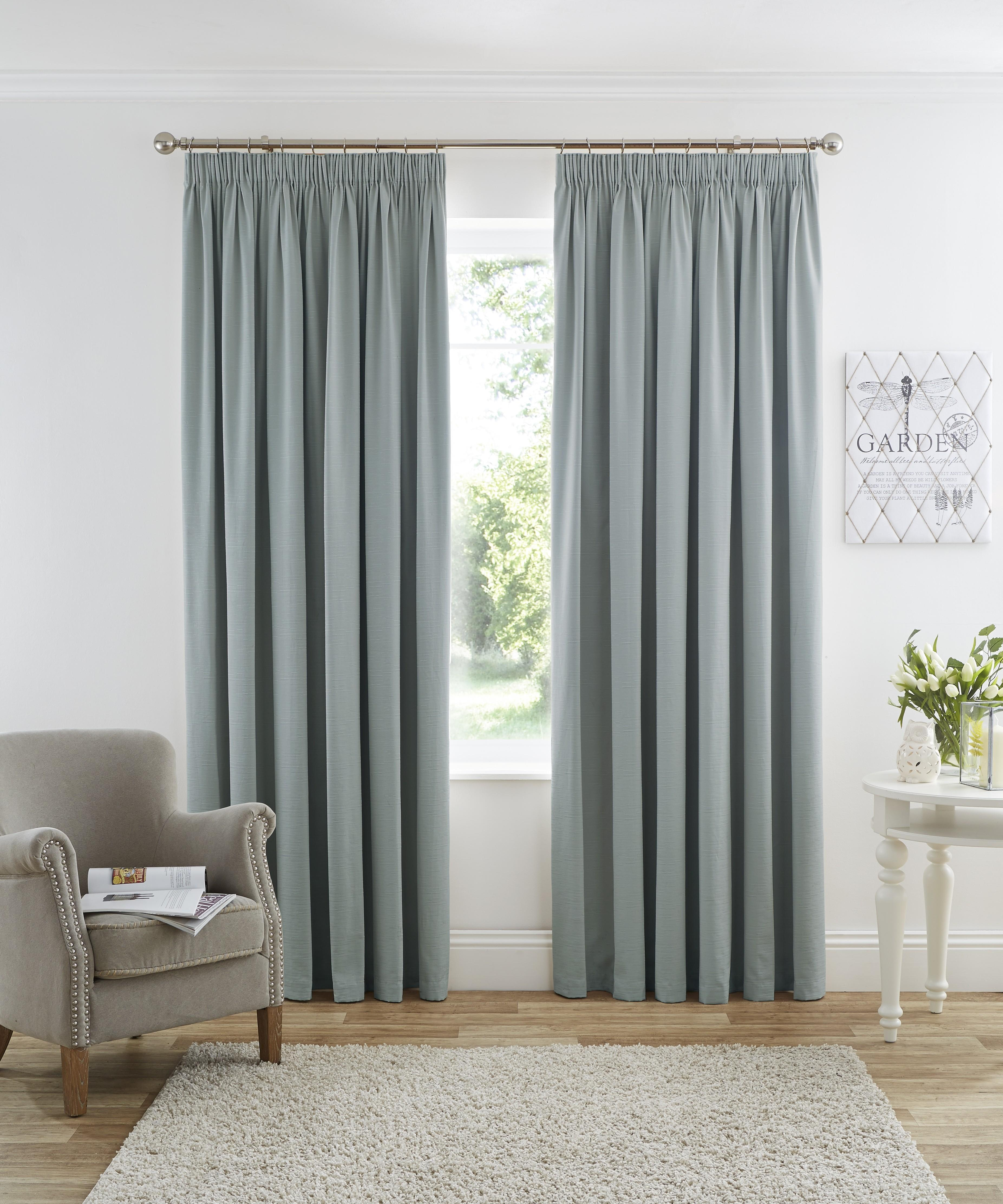 harmony blackout pencil pleat curtains duck egg ponden home. Black Bedroom Furniture Sets. Home Design Ideas