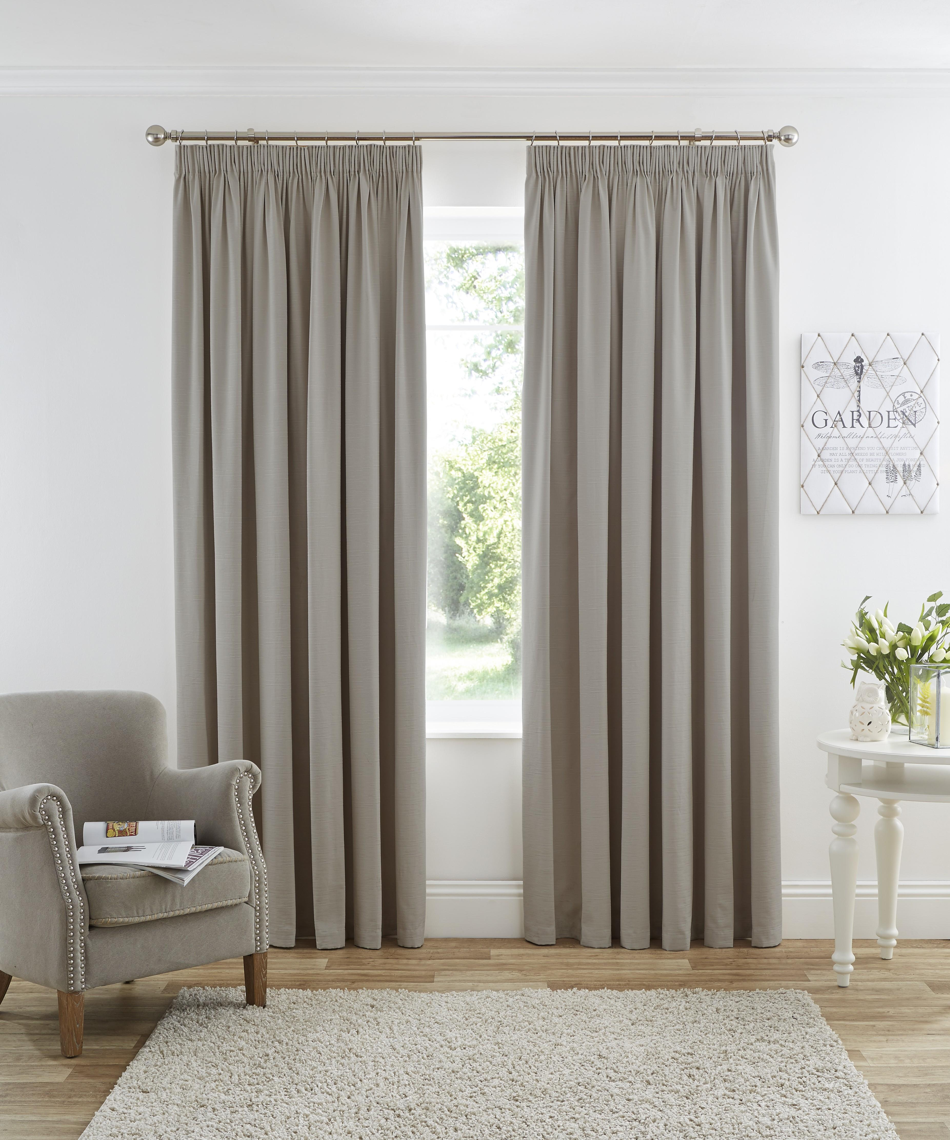 Media Room Blackout Curtains Harmony Blackout Pencil Pleat Curtains Taupe Ponden Home