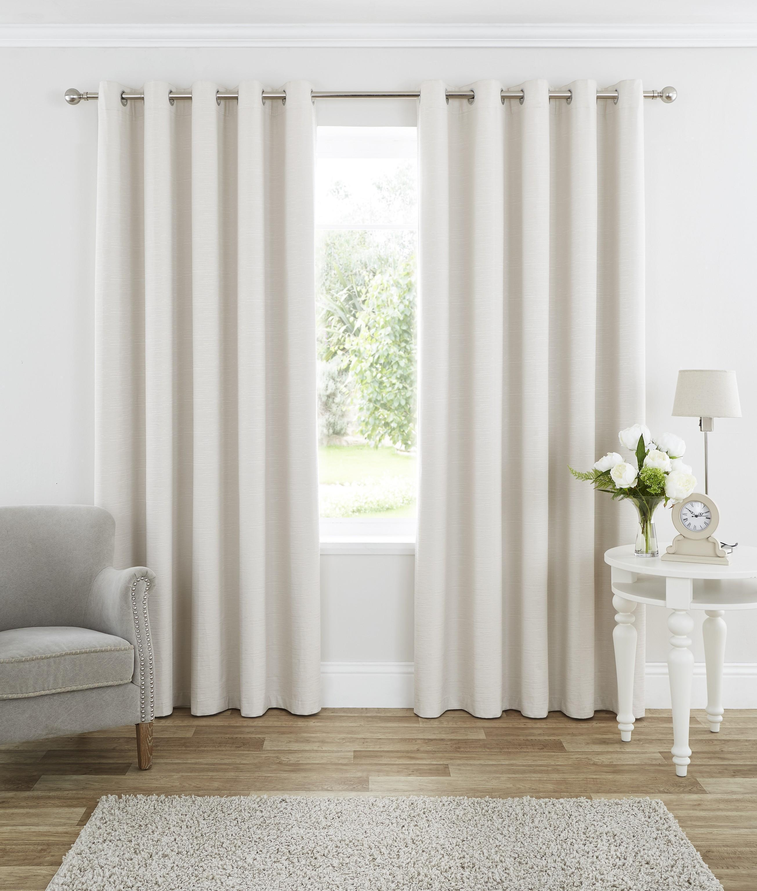 Cream Bedroom Curtains. Harmony Blackout Eyelet Curtains