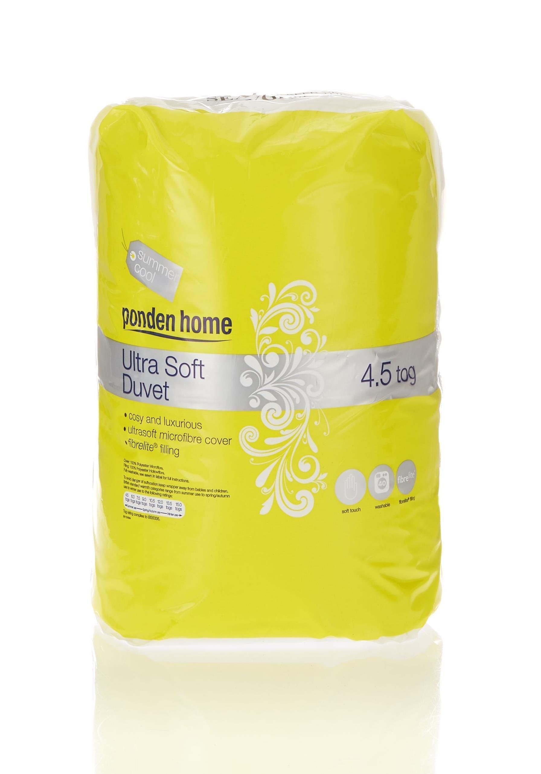 Ultrasoft 4 5 Tog Summer Duvet Ponden Home