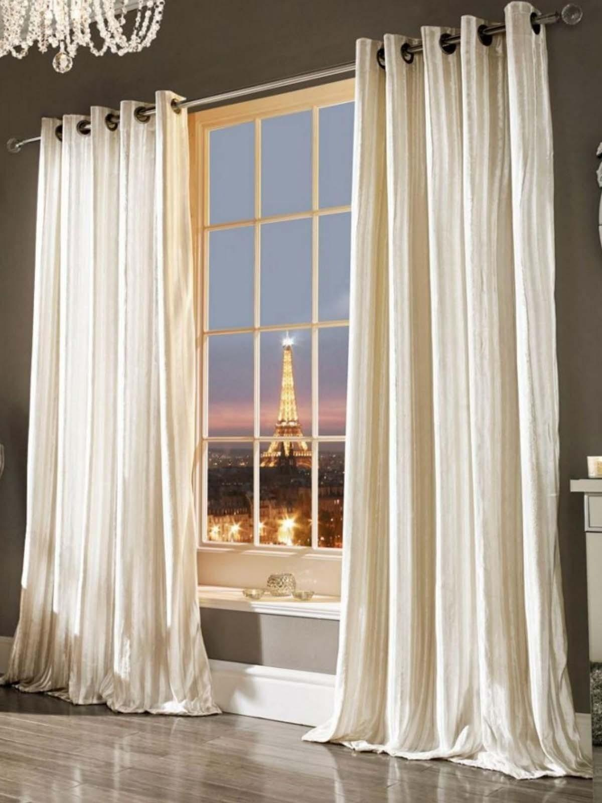 Kylie Minogue Iliana Eyelet Curtains Oyster Ponden Home