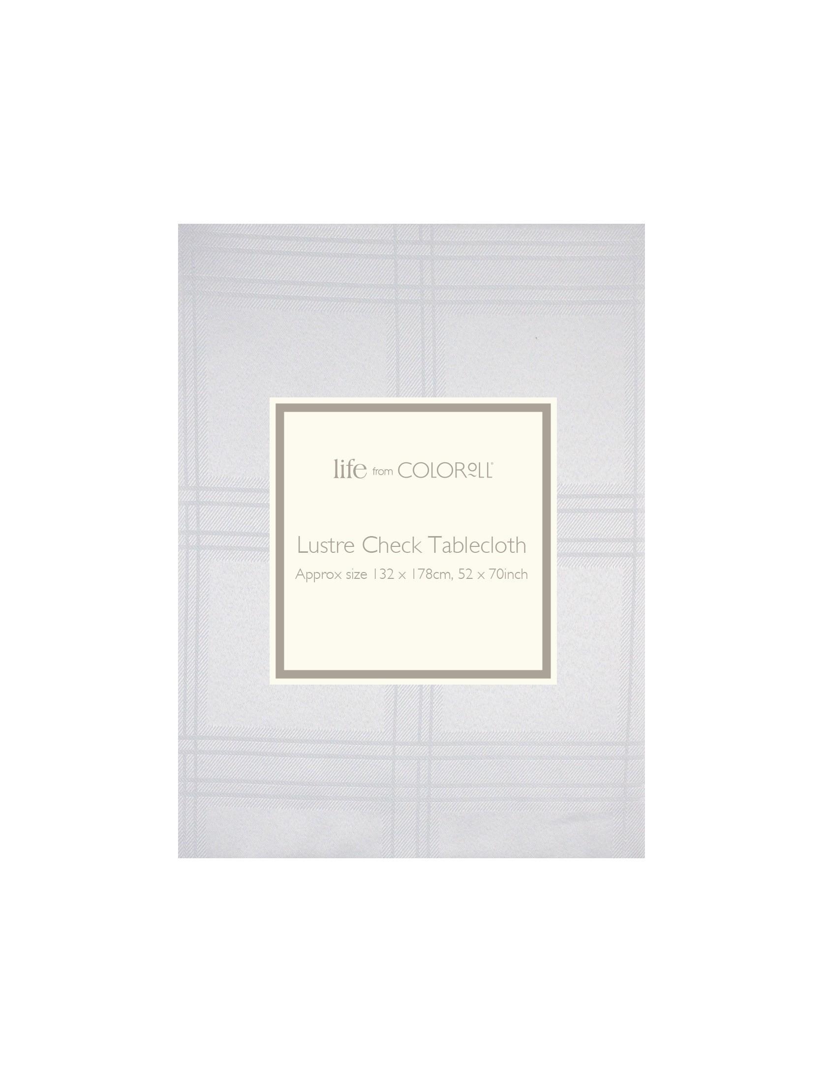 Ponden Home Lustre Check Tablecloth White