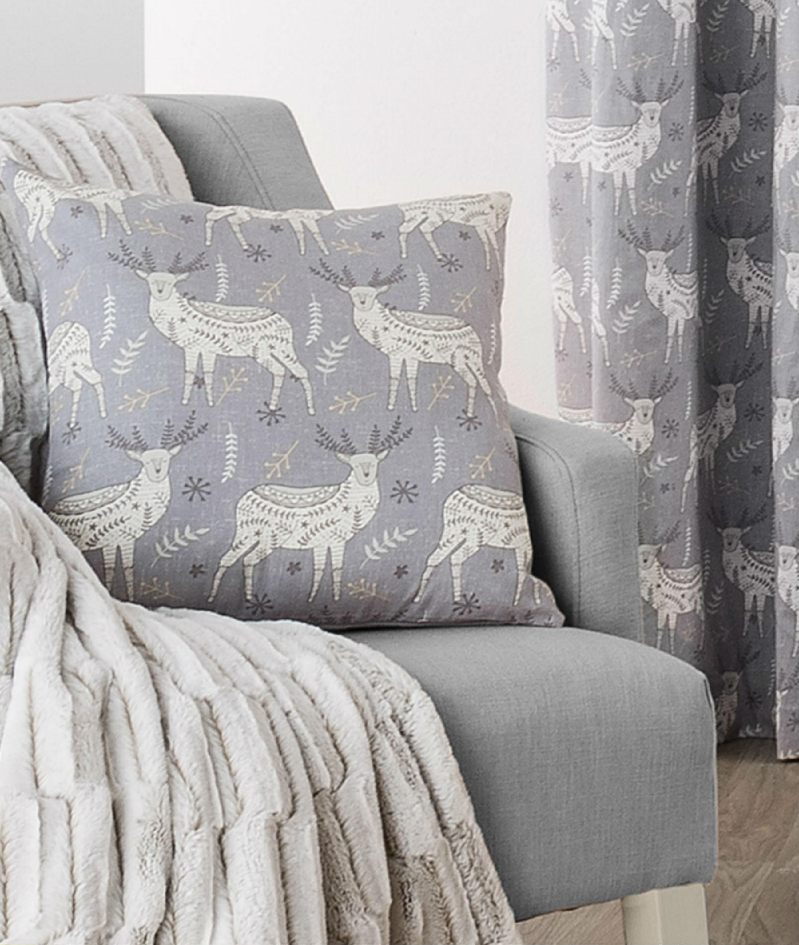 Nordic Stag Curtain Cushion Natural Ponden Home