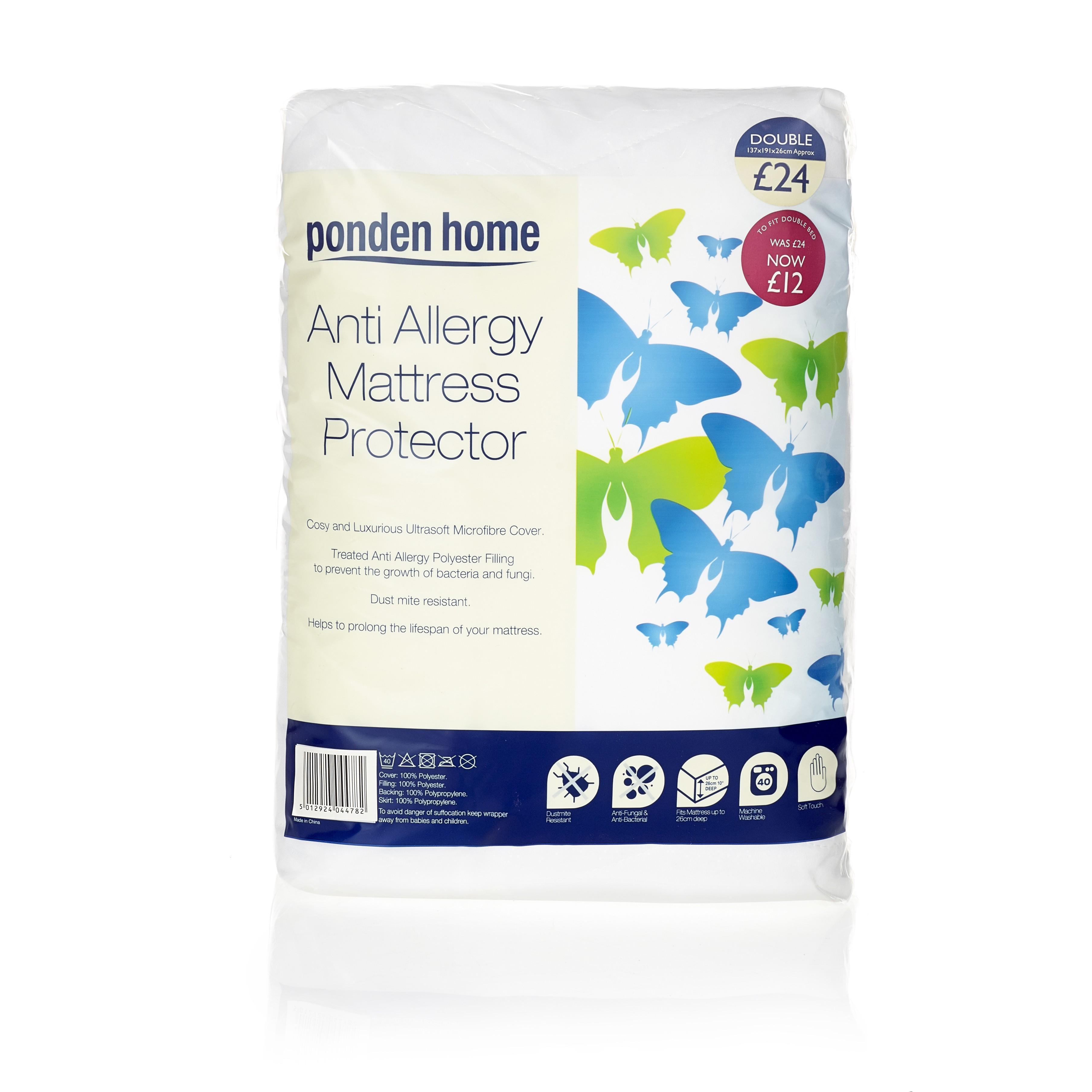 Anti Allergy Mattress Protector Ponden Home