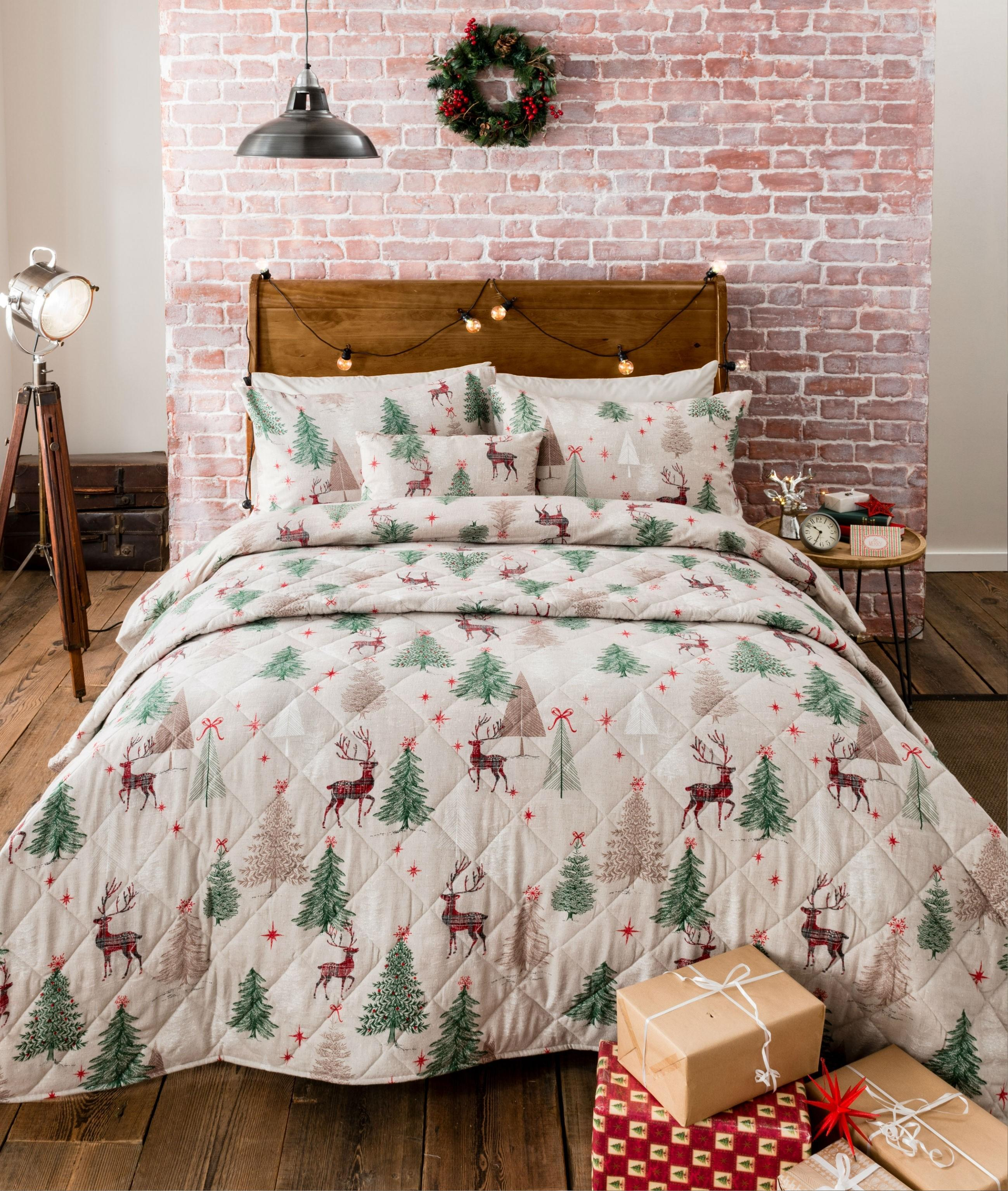 Scandi Forest Flannelette Bedding Collection Multi