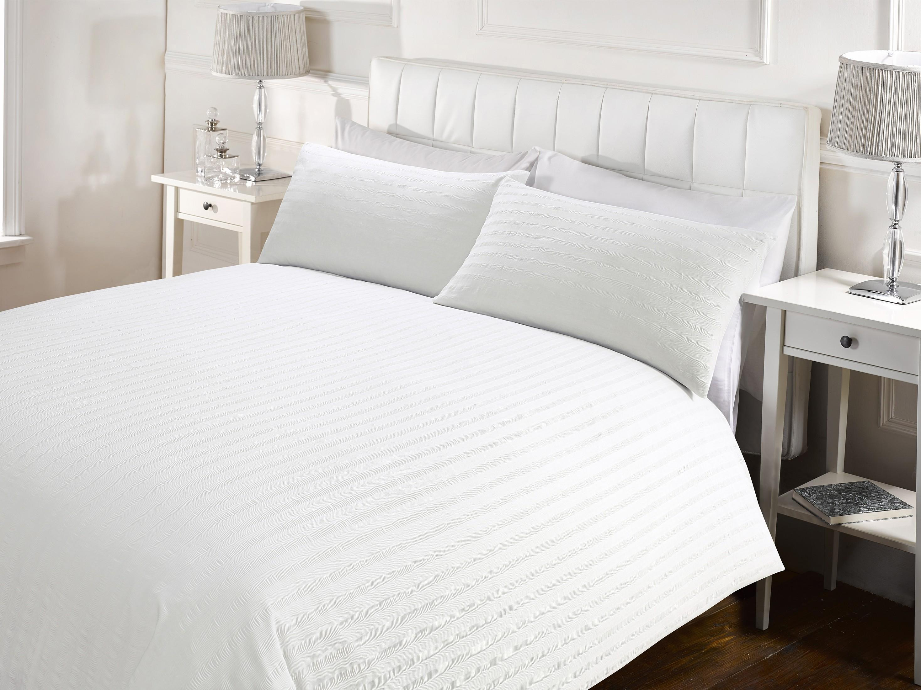 duvet white from waffle piquet set cover