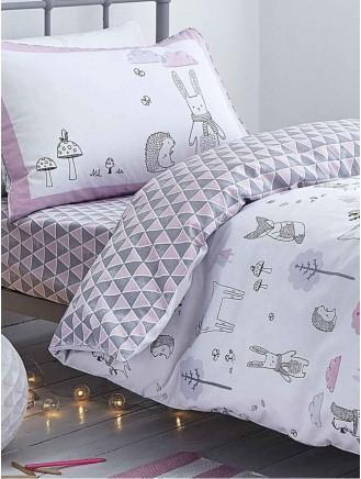 e1bf9c55ced67 ... Little Bianca Nordic Cotton Print Duvet Set Pink