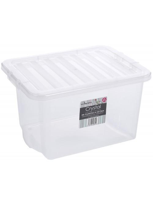Wham® Crystal 24L Box & Lid x5 Clear