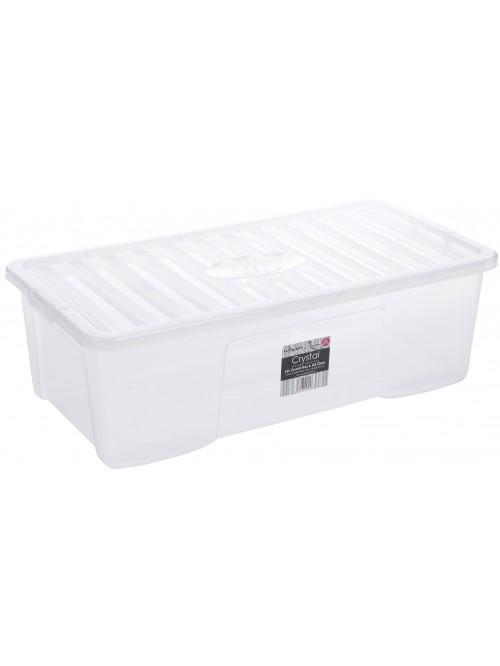 Wham® Crystal 62L Box & Lid x3 Clear