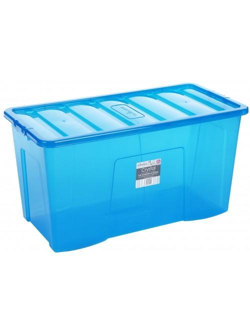 Wham® Crystal 110L Box & Lid x3 Blue