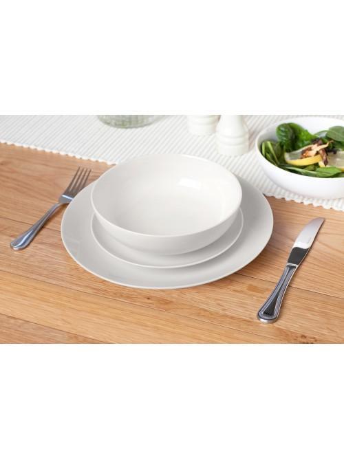 12 Piece Luna Dinner Set White